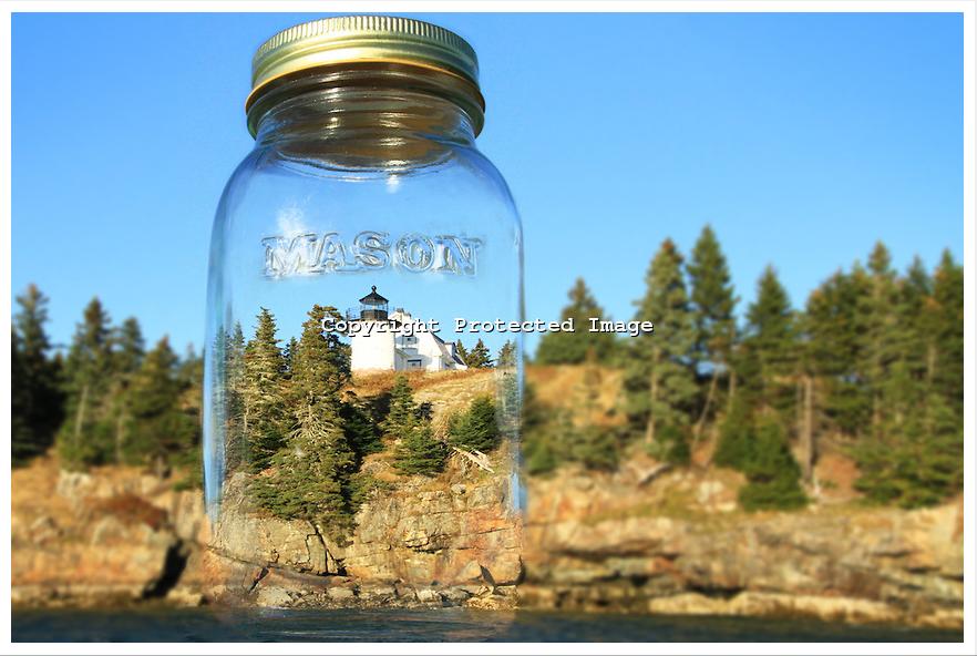 Bear Island Lighthouse in a jar   Todd Burgess