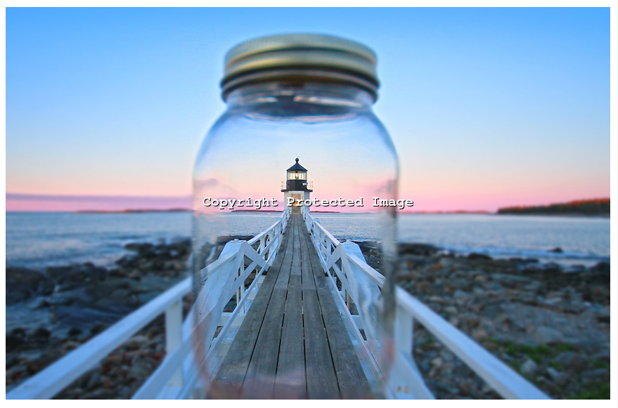 Marshall Point Lighthouse in a Mason Jar   Todd Burgess