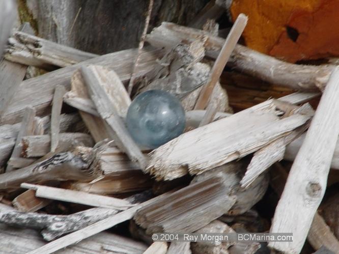 Glass ball on the beach