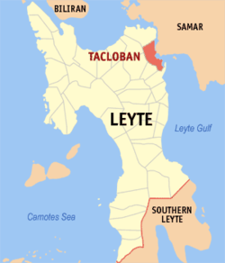Location of Leyte & Tacloban