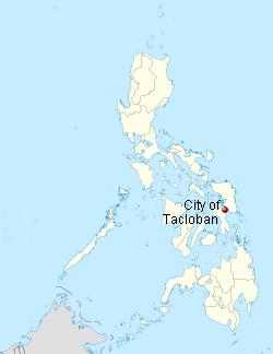 Location of Tacloban