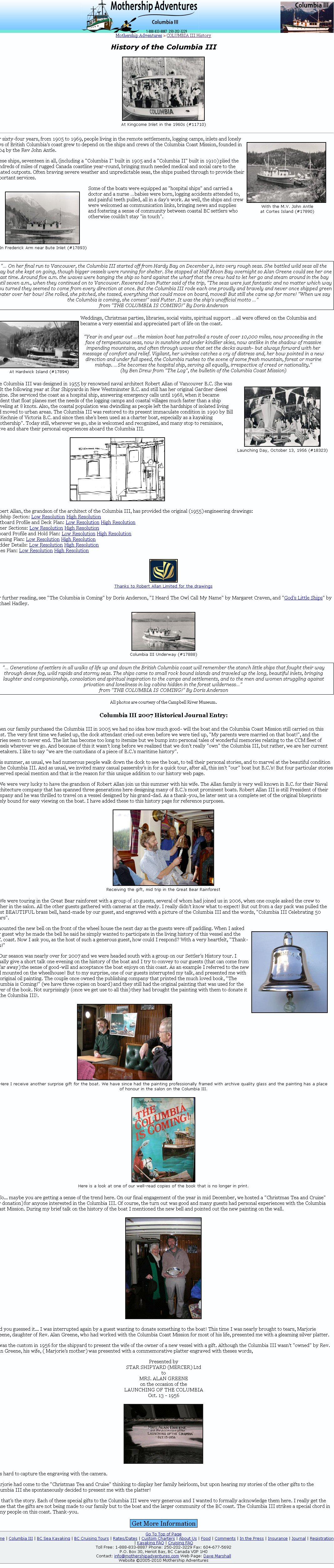 Columbia III History