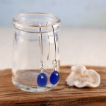 Cobalt Blue Earrings Perfect Pair on Long Earring Wires
