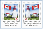 Canadian Lighthouse Stamp Backwards   Featured   Lighthouse News