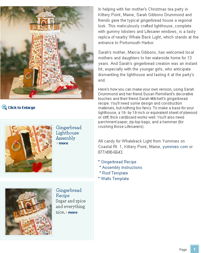 Build a Gingerbread Lighthouse   Coastal Living(1)