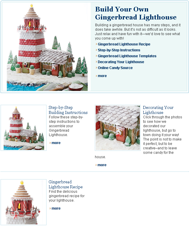 Craft a Gingerbread Lighthouse   Coastal Living