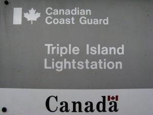 Triple Island ID sign