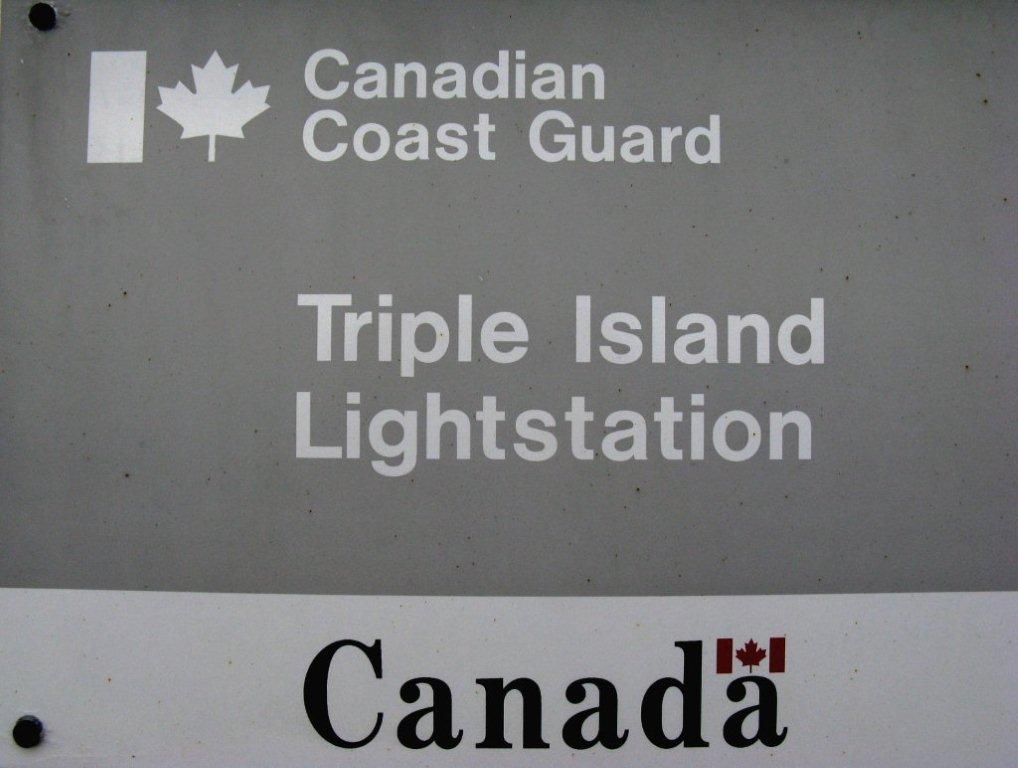Triple Island ID sign