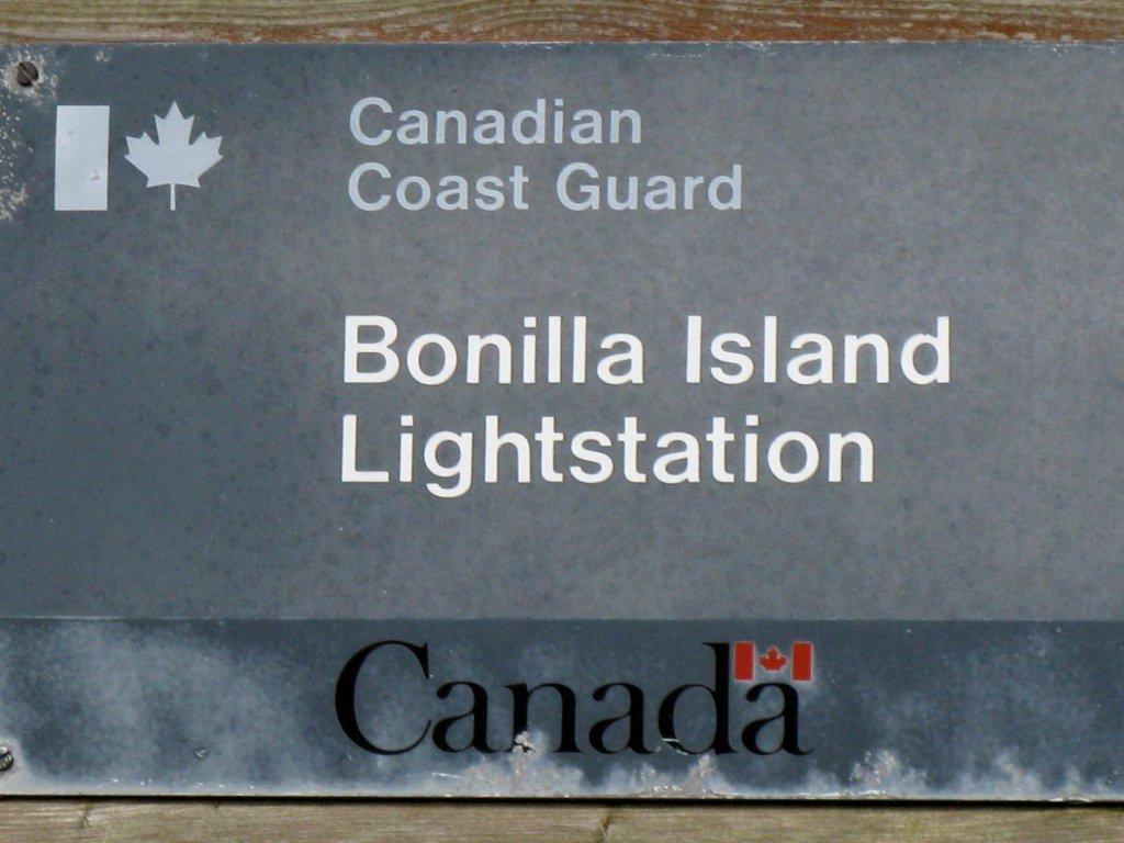 Bonilla Island ID Sign