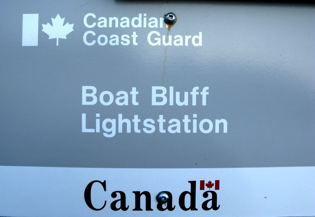 Boat Bluff ID Sign