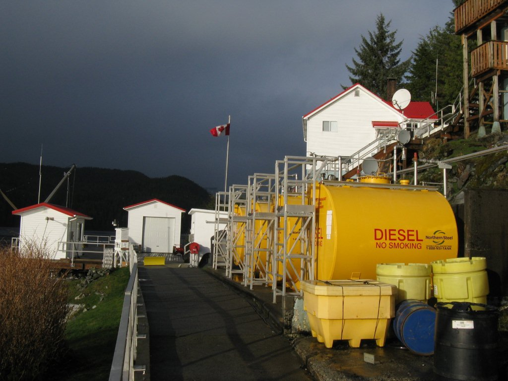 Diesel fuel tanks and house