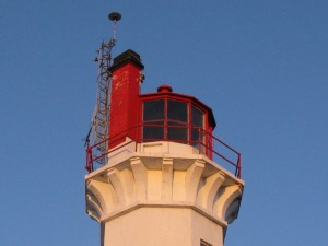 Triple Island lantern, now closed. The light is external from the lantern room