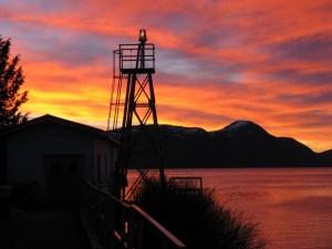The lighthouse at sunrise