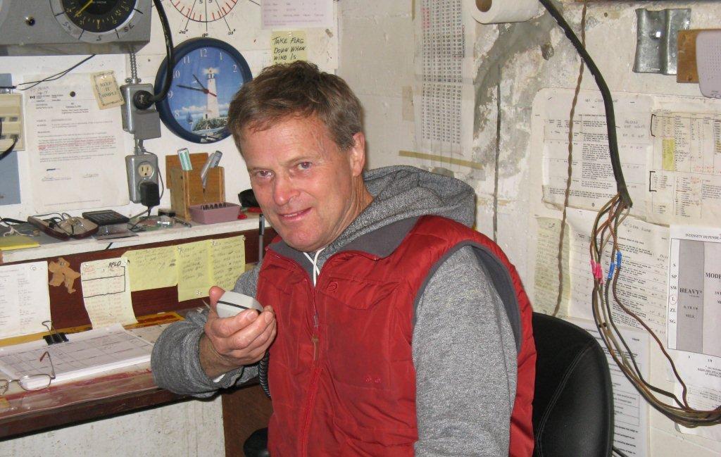 David W. Pearce on the radio