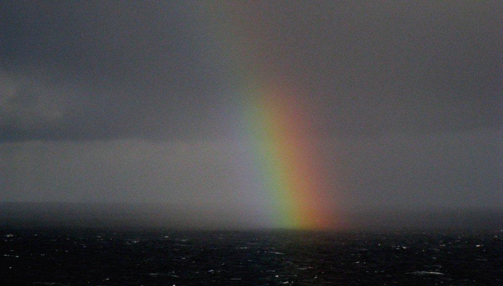 Rainbow over the sea