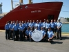 officers-and-crew-of-ccgs-griffon-proudly-display-the-new-20-fine-silver-coin-featuring-ccgs-louis-s-st-laurent
